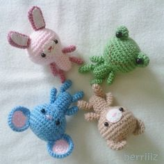 PDF Crochet Pattern  Tiny animals by berriiiz on Etsy
