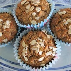 BrenDid Healthy Oatmeal Muffins (No Flour No Sugar No Oil)