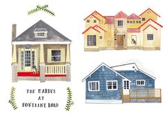 This would be fun to hang on the wall!  http://www.etsy.com/listing/89581402/custom-illustrated-house-portrait