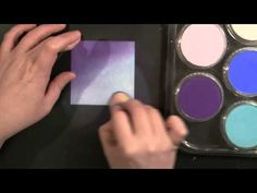 ▶ PB&J Penny Black and Jill Foster: Pan Pastels and Background Stamping - YouTube