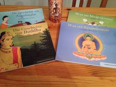 """In between some other reading I enjoyed reading some picture books for children two of them I enjoyed a lot. They have nice drawings and the text is suitable for children of different ages. The two books on the left side (""""The story of Angulimala"""" and """"The story of Buddha"""") are great for children but I think also adults will enjoy them a lot. The books on the right side (""""What is Buddhism"""" and """"What is Meditation"""") disappointed me."""