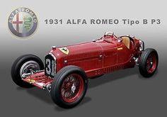 1931 Alfa Romeo Tipo B P3 Formula 1 Grand Prix Vintage Race Car ...