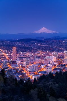 Mt. Hood over Portland, OR this place is gorgeous.
