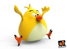 Fat Silly Toon Bird