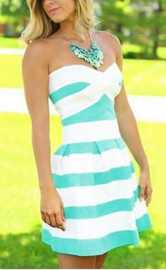A-line Striped Sleeveless Party Dress