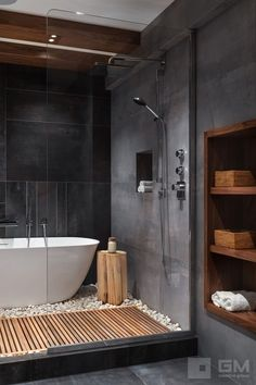 Bathroom Design Luxury, Modern Bathroom Design, Modern House Design, Grey Bathrooms Designs, Best Bathroom Designs, Home Room Design, Dream Home Design, Home Interior Design, Modern Bathrooms
