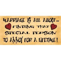 Wooden Funny Sign Wall Plaque Gift Present Marriage Is All About Finding That Special Person To Annoy For A Lifetime: Amazon.co.uk: Kitchen & Home