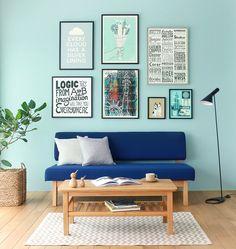 複数のアートポスターをコーディネートして、ワンランク上の空間に仕上げたリビングシーン Re:CENO INTERIOR STYLING BOOK
