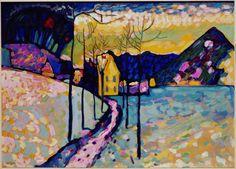 Wassily Kandinsky (Russian, 1866-1944), Winter Landscape I, Kochel, Bavaria, 1909. Oil on cardboard, 71.5 x 97.5 cm.