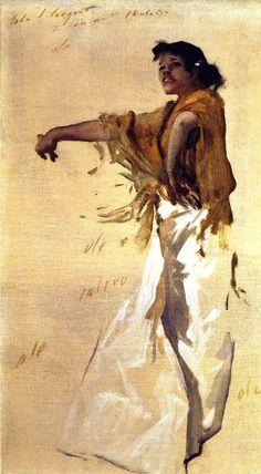 Spanish Gypsy Dancer (John Singer Sargent - )