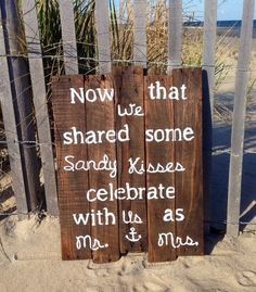 Large Rustic Beach Wedding Sign 17x23; Beach Wedding; Beach Wedding
