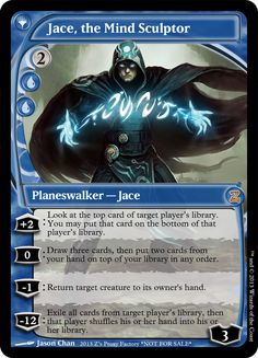 FUT Jace, The Mind Sculptor, zeerbe, proxy, digital render, Z's Proxy Factory, MTG, Magic the Gathering