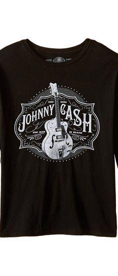 The Original Retro Brand Kids Johnny Cash Long Sleeve Shirt (Big Kids) (Black) Boy's T Shirt - The Original Retro Brand Kids, Johnny Cash Long Sleeve Shirt (Big Kids), RB400B-SNY7B-005, Apparel Top Shirt, T Shirt, Top, Apparel, Clothes Clothing, Gift, - Street Fashion And Style Ideas