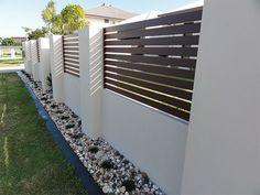 Arden Gates Ardenwood aluminium wood effect fencing 3 - Garten House Fence Design, Modern Fence Design, Modern Wood Fence, Deck Railing Design, Backyard Fences, Backyard Landscaping, Landscaping Ideas, Yard Fencing, Diy Fence
