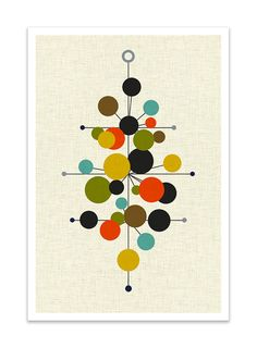 RADIATE Giclee Print Mid Century Modern Danish Modern by Thedor