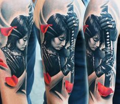 A rich and meaningful gallery of Samurai tattoo designs and ideas that will most definitely entice your curiosity.We will also discuss a brief background on the Samurai and the preferences of both men and women for this kind of tattoo design. Asian Tattoos, Black Ink Tattoos, Mom Tattoos, Body Art Tattoos, Hand Tattoos, Japanese Tattoo Art, Japanese Tattoo Designs, Japanese Sleeve Tattoos, Tattoo Designs For Women