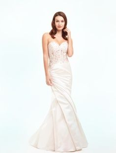 Danielle Caprese - Sweetheart Mermaid Gown in Satin (I like but I would totally fill in the see-thru piece)