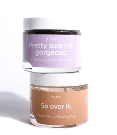 Treat all of your skin woes with our mask duo. So over it our papaya and hibiscus mask slays dead, dry skin. Pretty sure i'm gorgeous our charcoal creme mask is your new hydration best friend. Sugar Scrub Diy, Diy Scrub, Mask Duo, Routine, Packing, Homemade Skin Care, Diy Face Mask, Face Masks, Fashion Face Mask