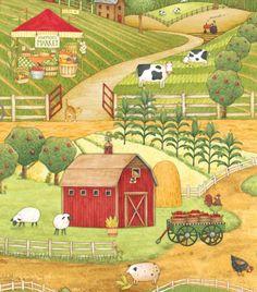 My Life on the Farm fabric
