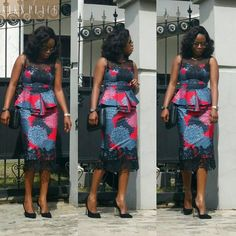 If yes, try some of the latest Ankara styles we have lined up for you today. They are sexy, sassy and look absolutely gorgeous. This season, Ankara fashion has a kind of 'viby' feel to it. These ladies have got their name on each styl Trendy Ankara Styles, Ankara Dress Styles, Kente Styles, African Print Dresses, African Print Fashion, African Dress, African Attire, African Wear, African Women