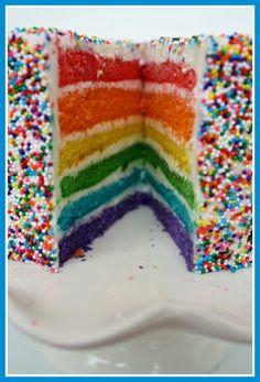 Rainbow Sprinkles Cake!