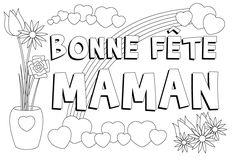 carte fête des mères à colorier - Recherche Google