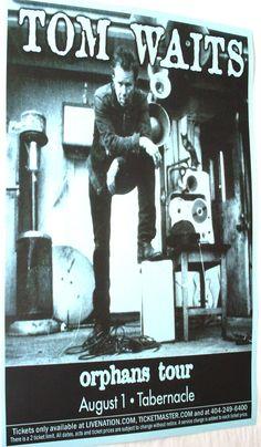 Tom Waits poster concert $9.84