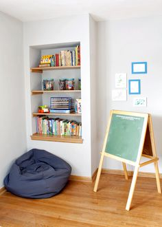bump out built in bookcase living with kids julia fain