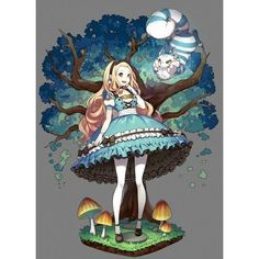 Best drawing disney alice in wonderland anime art Ideas Kawaii Anime, Cat Anime, Manga Anime, Anime Art, Disney Kunst, Arte Disney, Disney Art, Disney Anime Style, Anime Plus