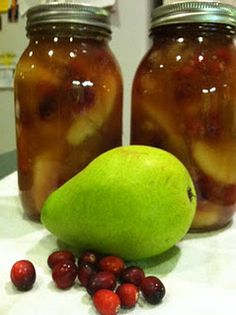 canned pear cranberry pie filling