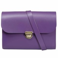 Helena Purple Leather Satchel | N'Damus London | Wolf & Badger / Women / Accessories / Bags