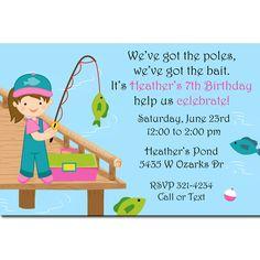 Fishing Theme Birthday Party Invitation Happy Birthday Pinterest