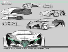 2015 Chrysler Sponsored Project -Junior Winter Semester Car Drawing Pencil, Car Design Sketch, Design Cars, Auto Design, Sketch Photoshop, Continental, Hand Sketch, Futuristic Cars, Car Drawings