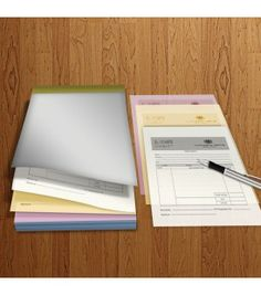A4 3 Parts 1 Colour Print (Black) NCR A4 NCR books with top or side glue options. Clear black print, large page size for triplicate record keeping.     50 sets A4, three part NCR books High quality black printing Sturdy cardboard NCR backing NCR books with top or side gluing Easy tear perforations Quick and easy design templates Artwork Size: 214 x 301mm Finished Size: A4 (210 x 297)mm http://fotosnipe.co.uk/ncrbooks