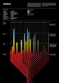 Rather cool poster depicting the likely extinction timestamps for specific species - done like a race-to-the-finish type graphic