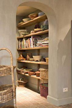 Cob shelves