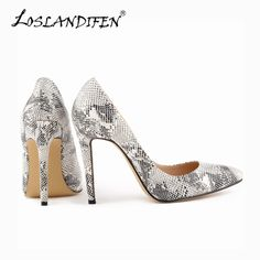 31b4a20cd4f Classic Sexy Pointed Toe High Heels Women Pumps Shoes Faux snake Spring  Brand Wedding Pumps Big Size 35-42 10 Color 302-1Snake