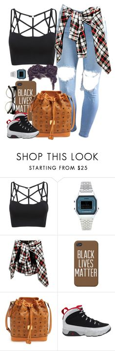 """Untitled #924"" by cjasmyne ❤ liked on Polyvore featuring Topshop, MCM, NIKE and ZeroUV"