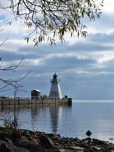 Port Dover Lighthouse, Ont., Canada, reflection on Lake Erie  via  @JayKayS Photos