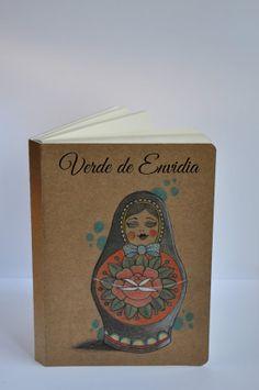 Notebook handpainted MATRIOSKA por VerdedeEnvidia en Etsy, $9.00