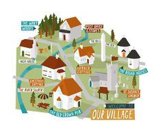 Village map by Kerry Hyndman