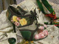 """Купить Туфли """" Тайны Версаля"""" - Декупаж, туфли, туфли декупаж, обувь ручной работы"""