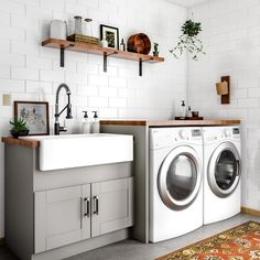 48 Modern Laundry Room Makeover Ideas for Your House 48 Modern Lau. 48 Modern Laundry Room Makeover Ideas for Your House 48 Modern Laundry Room Makeover Laundry Room Remodel, Basement Laundry, Farmhouse Laundry Room, Laundry Room Organization, Laundry Room Design, Laundry In Bathroom, Laundry Room Utility Sink, Basement Bathroom, Laundry Room Sink Cabinet