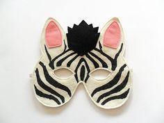 Zebra Kids Animal Mask Children Carnival Mask by BHBKidstyle