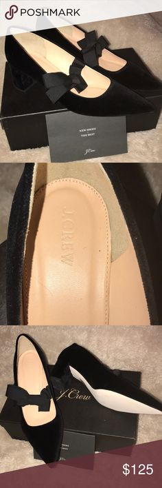 J Crew Avery Heels W/Bow Size 10.5 Brand new from J Crew Retail.  I absolutely love these shoes but bought wrong size.  Site is sold out, Nonsmoking home, open to reasonable offers. J. Crew Shoes Heels