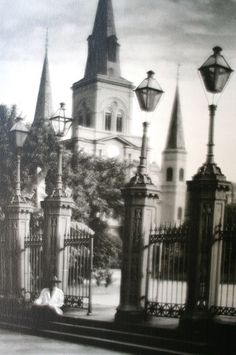 Signed New Orleans Cathedral Framed by claudettesvintage on Etsy, $120.00