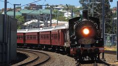 Travel, Brisbane, Train, Steam, Travel #travel, #brisbane, #train, #steam, #travel Nightlife Travel, Locomotive, Budget Travel, Brisbane, Night Life, Things To Do, Australia, Vacation, Railings