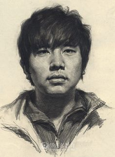 Portrait drawing of an a man