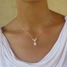Pearl Opalite Drop Necklace