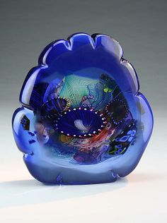 Marine Portal by Wes Hunting: Art Glass Sculpture available at www.artfulhome.com